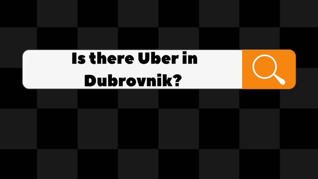 is there uber in dubrovnik